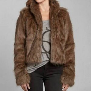 BRAND NEW Abercrombie & Fitch Faux Fur Jacket
